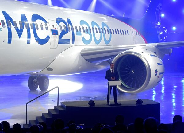 Prezentace nového dopravního letadla MS-21 - Sputnik Česká republika