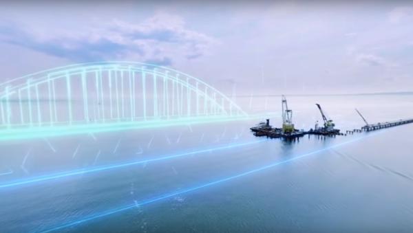 Jak bude vypadat Krymský most přes Kerčský průliv. Video 360 - Sputnik Česká republika