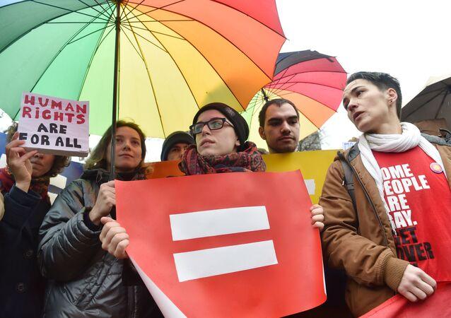 Průvod gayů v Kyjevě