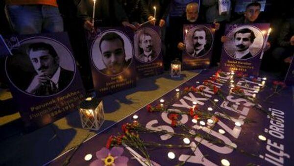 Pietní mítink na památku obětí genocidy arménského národa - Sputnik Česká republika