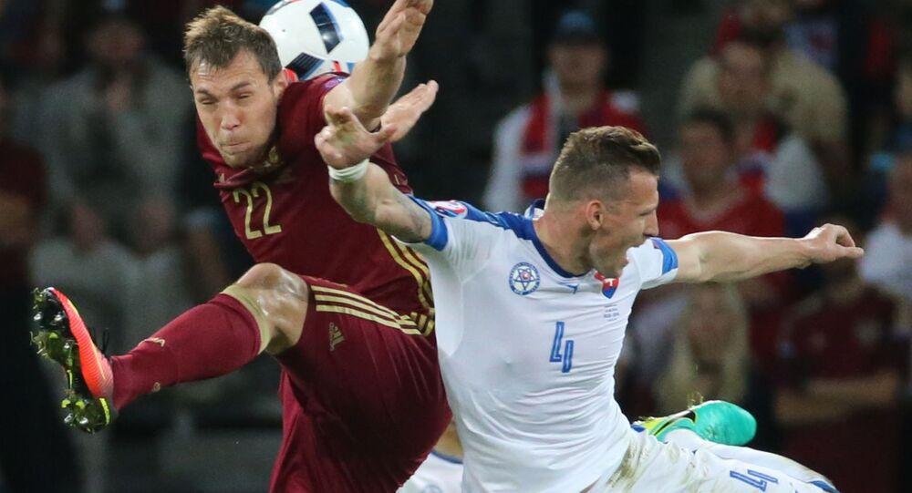 Zápas Rusko - Slovensko na ME 2016