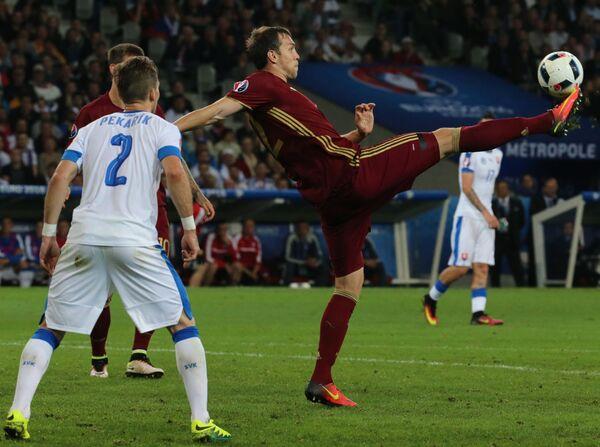 Zápas Rusko - Slovensko na Euro 2016 - Sputnik Česká republika