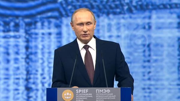 Putin na ekonomickém fóru v Petrohradě - Sputnik Česká republika