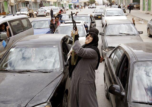Protestní akce v Benghází
