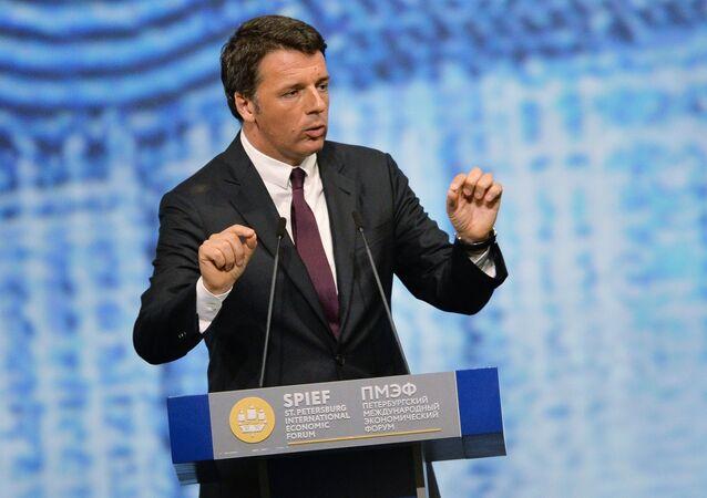 Matteo Renzi na Petrohradském mezinárodním ekonomickém fóru