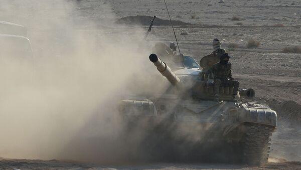 Syrský tank T-72 - Sputnik Česká republika