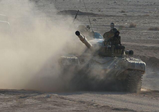 Syrský tank T-72