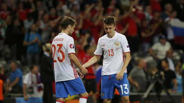 Fotbalisté ruského týmu - Sputnik Česká republika