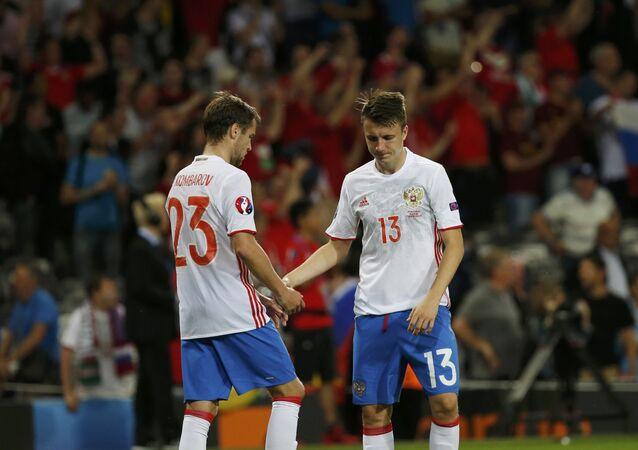 Fotbalisté ruského týmu
