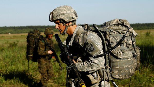 Američtí vojáci během cvičení v Polsku - Sputnik Česká republika
