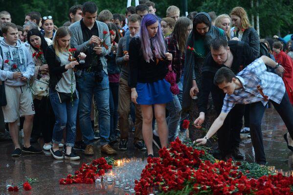 Akce v rámci Dne paměti a smutku v Moskvě - Sputnik Česká republika