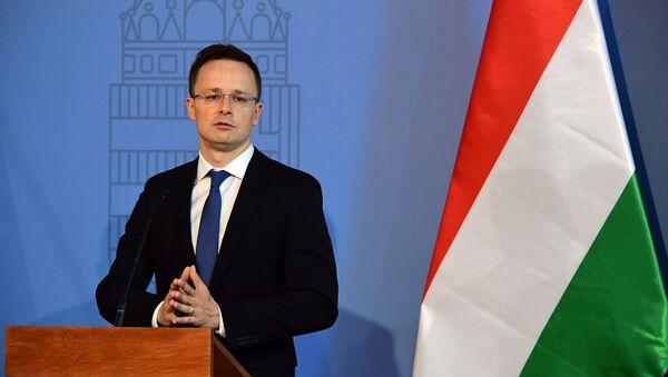 Maďarský ministr zahraničních věcí Péter Szijjártó - Sputnik Česká republika