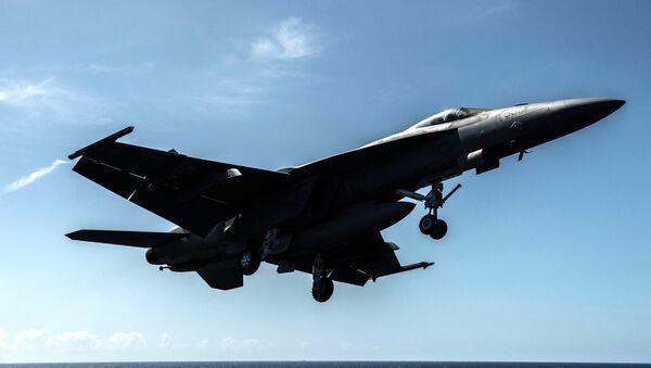 Americká stíhačka F/A-18F Super Hornet. Ilustrační foto - Sputnik Česká republika
