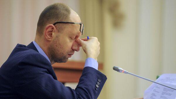 Bývalý ukrajinský premiér Arsenij Jaceňuk - Sputnik Česká republika