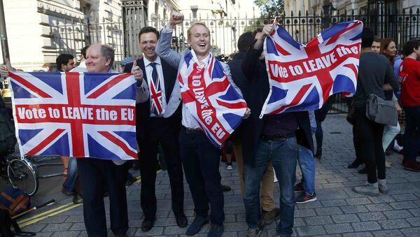 Zastánci brexitu - Sputnik Česká republika
