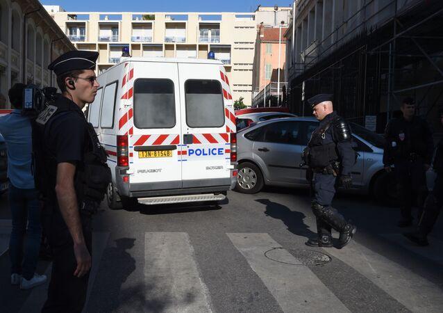 Policie v Marseille během Euro 2016