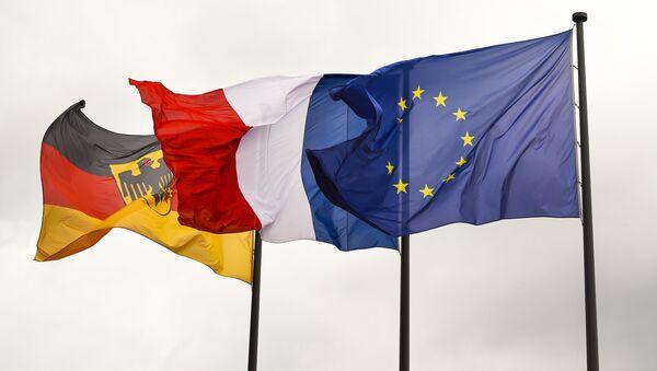 Vlajky Německa, Francie a EU - Sputnik Česká republika