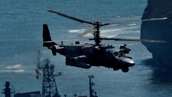 Vrtulník Ka-52 Alligator běhen cvičení v Přímořském kraji - Sputnik Česká republika