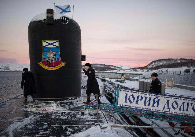 Ponorka třídy Borej Jurij Dolgorukij. Ilustrační foto