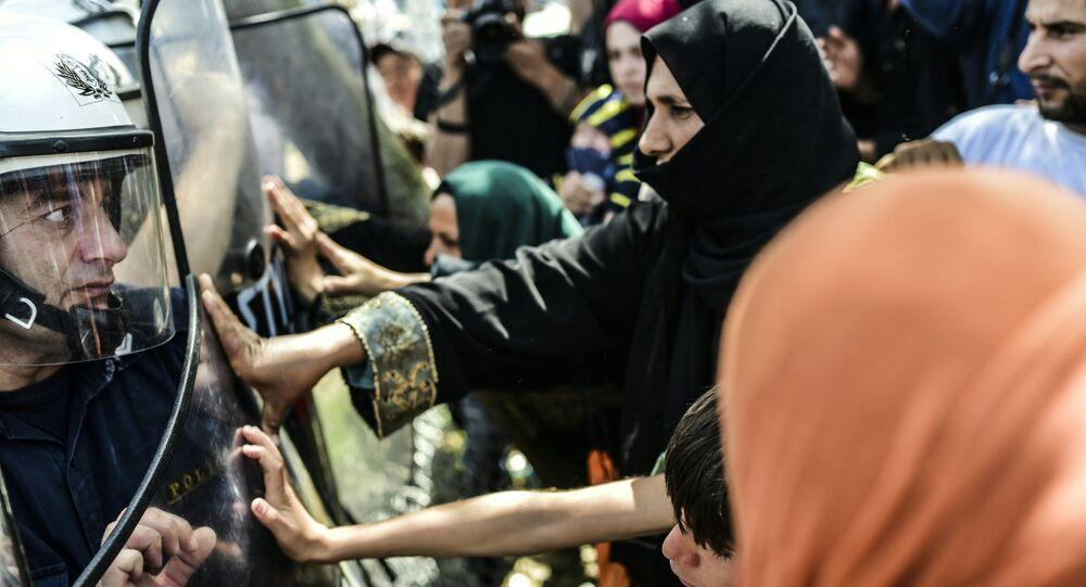 Srážky s migranty v Řecku