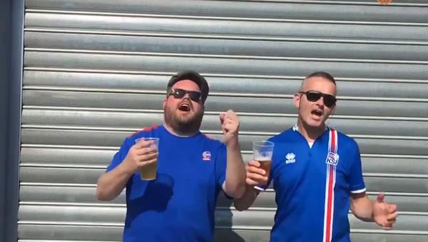 Islandští fanoušci zpívají rusky. VIDEO - Sputnik Česká republika