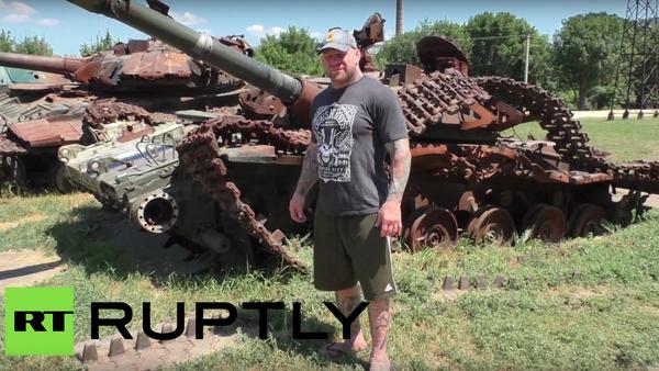 Zápasník Jeff Monson navštívil Luhansk - Sputnik Česká republika