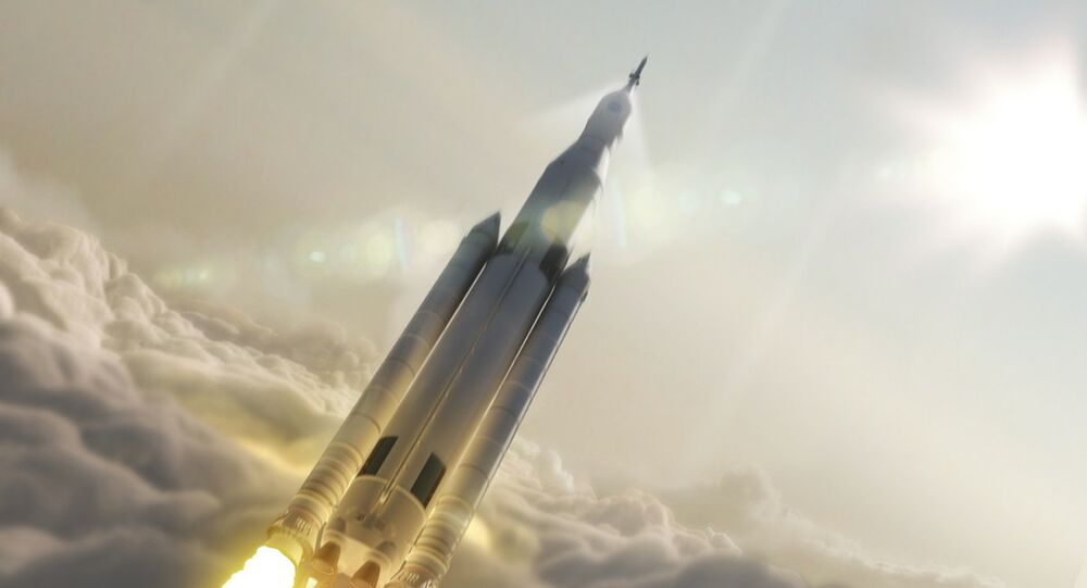 Umělecký koncept nosiče NASA Space Launch System