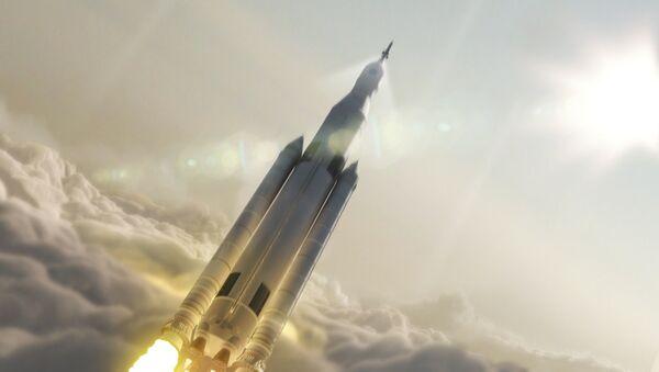 Umělecký koncept nosiče NASA Space Launch System - Sputnik Česká republika