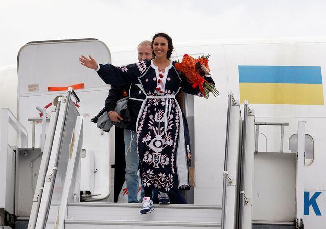 Ukrajinská zpěvačka v Kyjevě