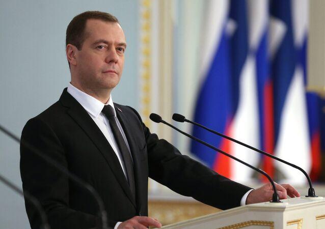Ruský premiér Dmitrij Medveděv. Ilustrační foto.