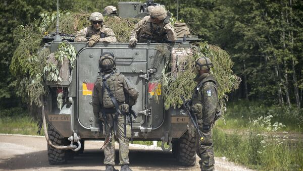 Cničení NATO Saber Strike 2016 v Estonsku - Sputnik Česká republika