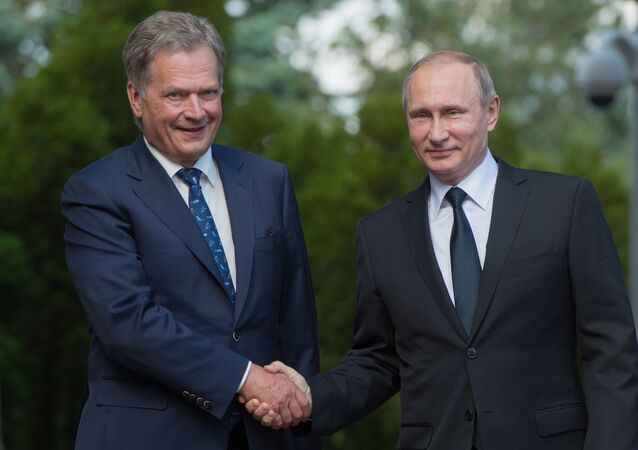 Finský prezident Sauli Niinistö a ruský prezident Vladimir Putin