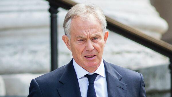 Bývalý britský premiér Tony Blair v Londýně - Sputnik Česká republika