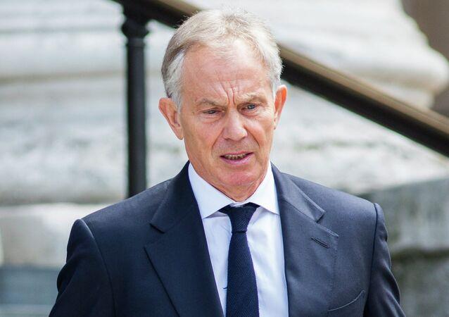 Bývalý britský premiér Tony Blair v Londýně
