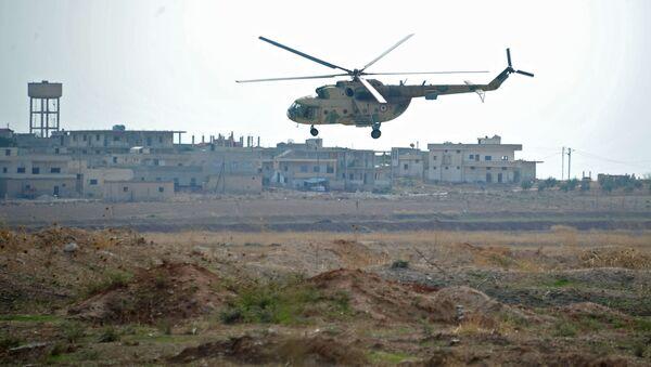 Syrský vrtulník - Sputnik Česká republika