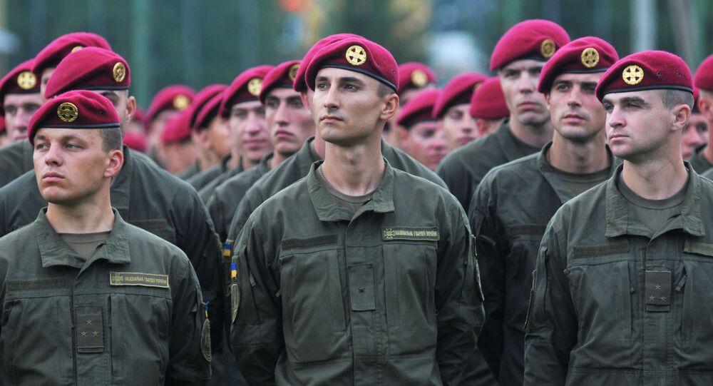 Ukrajinští vojáci během cvičení NATO
