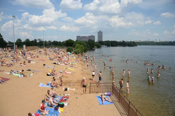 Plážový odpočinek v Moskvě - Sputnik Česká republika
