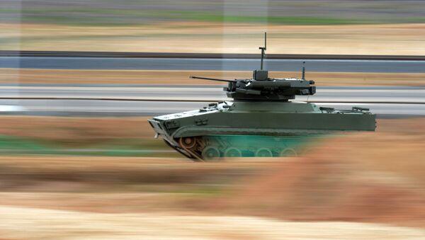 Robotický tank Udar - Sputnik Česká republika