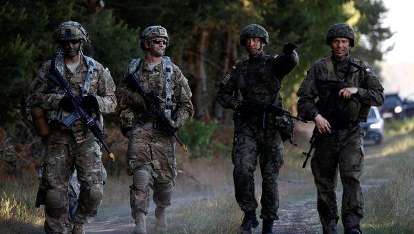 Polští a američtí vojáci v Polsku - Sputnik Česká republika