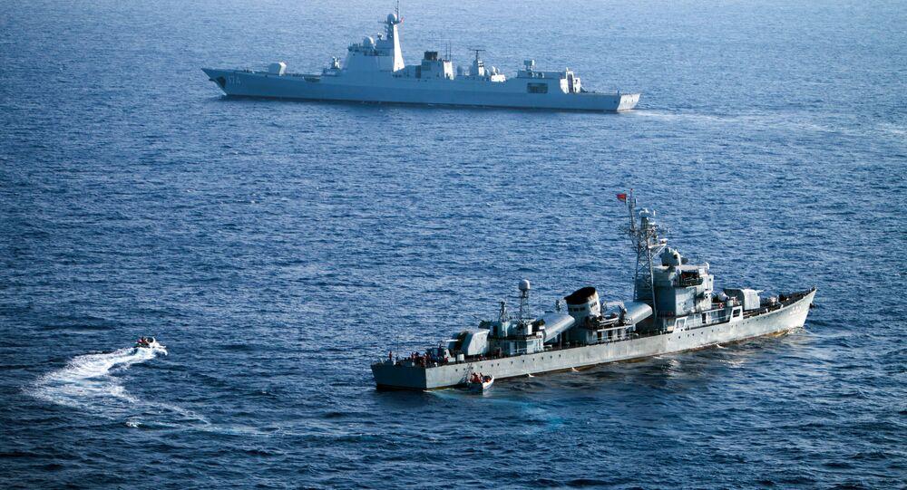 Čínské lodě v Jihočínské moři