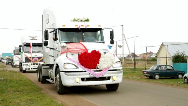 Video ze svatby kamioňáka z něj udělalo hvězdu sociálních sítí - Sputnik Česká republika