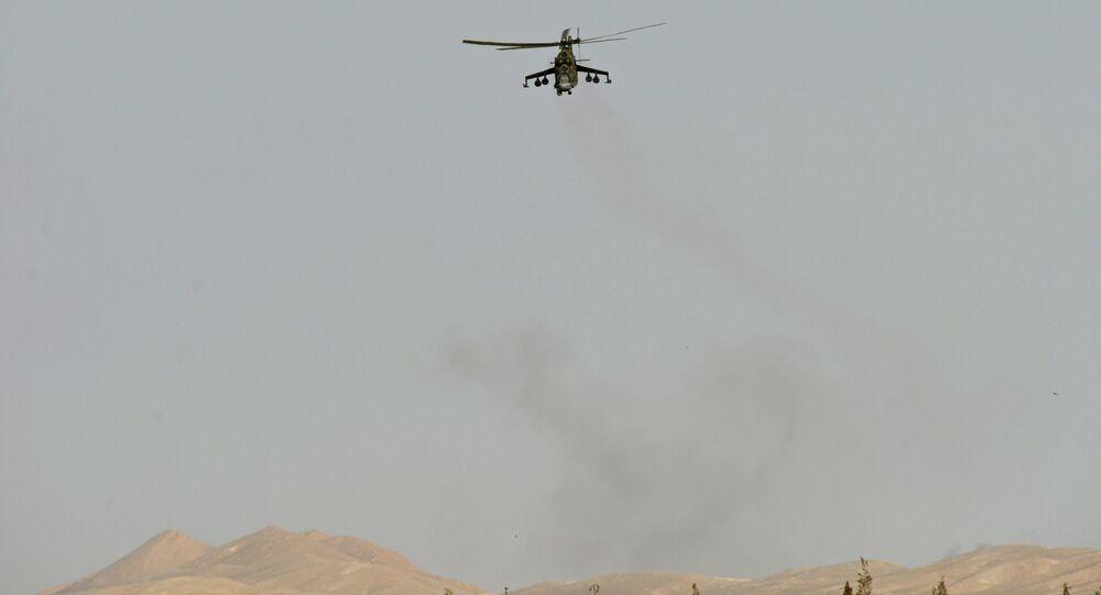 Mi-24 v okolí Palmýry. Ilustrační foto
