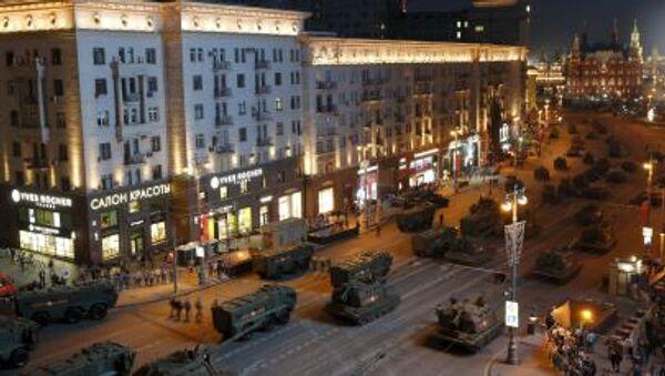 Zkouška přehlídky Vítězství v Moskvě. - Sputnik Česká republika