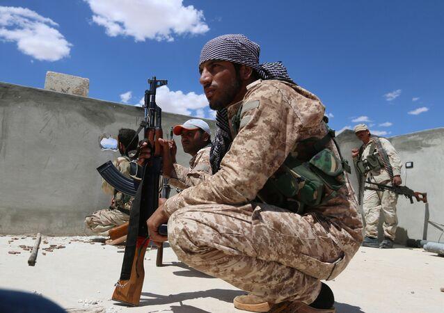 Syrská armáda v Aleppu