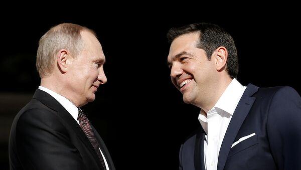 Ruský prezident Vladimir Putin a řecký premiér Alexis Tsipras - Sputnik Česká republika