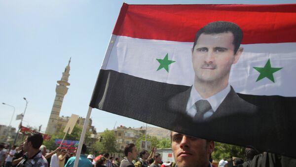 Mítink na podporu Bašára Asada v Damašku - Sputnik Česká republika
