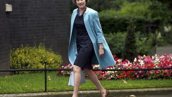 Britská ministryně vnitra Theresa Mayová - Sputnik Česká republika