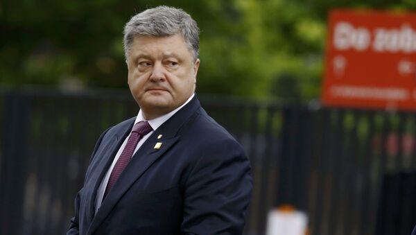 Ukrajinský prezident Petro Porošenko ve Varšavě. Ilustrační foto - Sputnik Česká republika