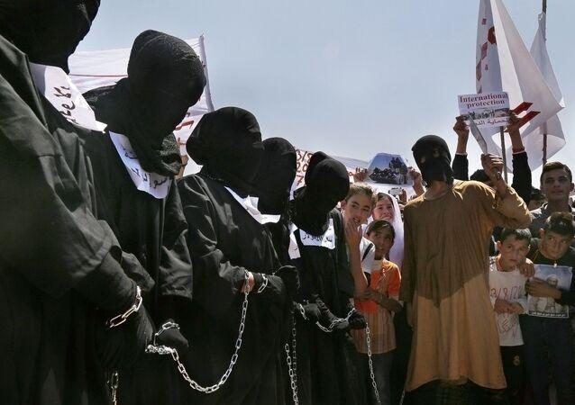 Protestní akce proti IS v Iráku