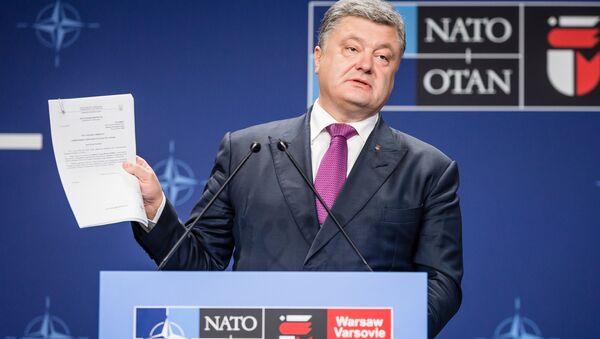Ukrajinský prezident Petro Porošenko ve Varšavě - Sputnik Česká republika